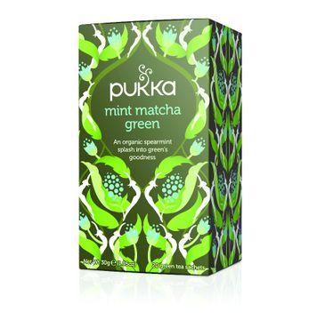 Pukka Mint Matcha Green organiczna herbata zielona z miętą 20 torebek