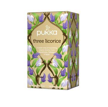 Pukka Three Licorice organiczna herbatka lukrecjowa 20 torebek
