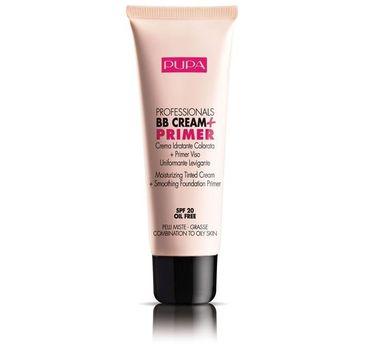 Pupa – Professionals BB Cream & Primer SPF20 - Krem BB + Baza pod makijaż do cery mieszanej i tłustej 002 Sand (50 ml)