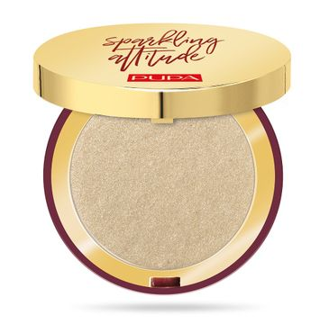 Pupa – Sparkling Attitude Highlighter rozświetlacz do twarzy w kompakcie 001 Lightweight Gold (6 g)