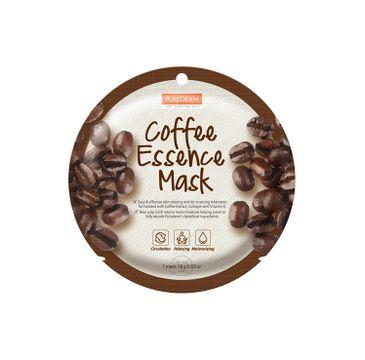Purederm Coffee Essence Mask maseczka w płacie Kawa (18 g)