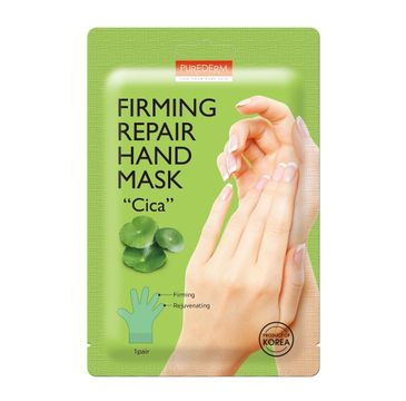 """Purederm Firming Repair Hand Mask """"Cica"""" ujędrniająco-regenerująca maseczka do dłoni z wąkrotką azjatycką (1 para)"""