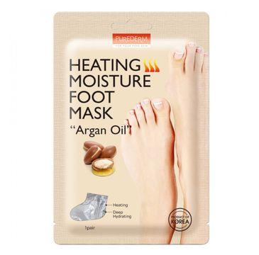 """Purederm Heating Moisture Foot Mask """"Argan Oil"""" rozgrzewająco-nawilżająca maseczka do stóp z olejkiem arganowym (1 para)"""