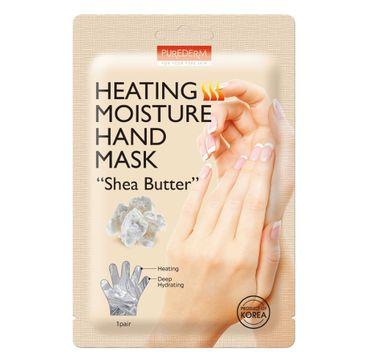 """Purederm Heating Moisture Hand Mask """"Shea Butter"""" rozgrzewająco-nawilżająca maseczka do dłoni z masłem shea (1 para)"""
