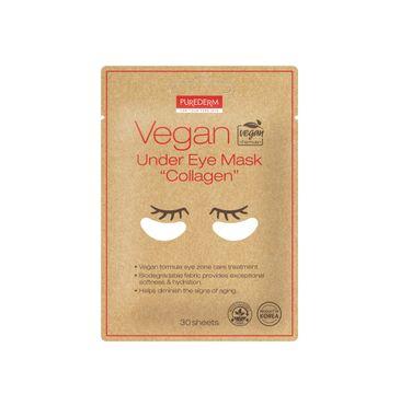 Purederm Vegan Under Eye Mask wegańskie płatki pod oczy z kolagenem (30 szt.)