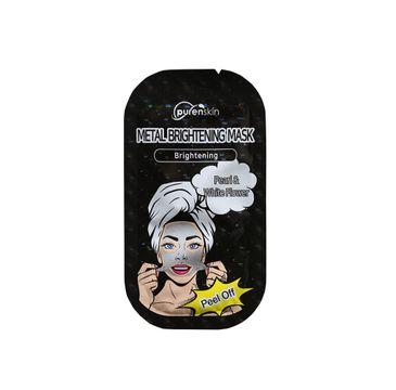 Purenskin Metal Brightening Mask metaliczna maseczka rozjaśniająca Pearl & White Flower 10g