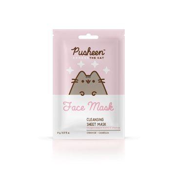 Pusheen Cleansing Sheet Mask oczyszczająca maseczka w płachcie (17 g)