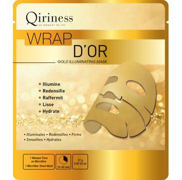 Qiriness Wrap D'Or maska rozświetlająca z 24K złotem 27g