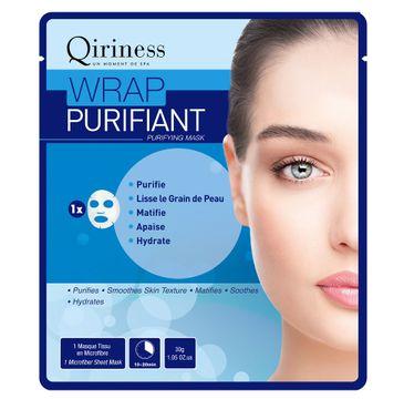 Qiriness Wrap Purifiant maska oczyszczająca z mikrofibry 30g