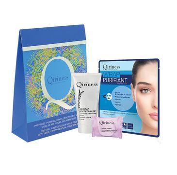 Qiriness Zestaw Radiant Deep Pore Scrub 20ml + Herbal Facial Steam Bath 8g + Purifying Mask 30g