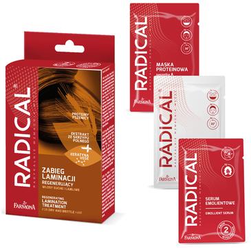 Radical Regenerujący zabieg laminacji włosów (maska 15ml, booster 15ml, serum 5ml)