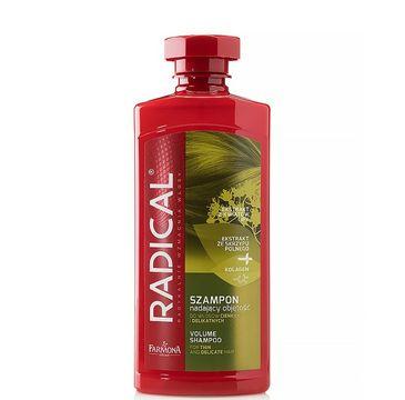 Radical szampon nadający objętość do włosów cienkich i delikatnych ekstrakt ze skrzypu + kolagen 400 ml