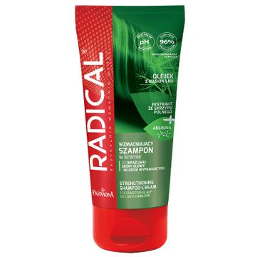Radical Wzmacniający szampon w kremie do wrażliwej skóry głowy i włosów wypadających (200 ml)