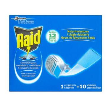 Raid – Urządzenie i wkłady przeciw komarom (10 szt.)
