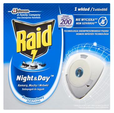 Raid Night&Day wkład do elektrofumigatora przeciw owadom (1 szt.)