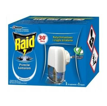 Raid – Przeciw komarom Elektrofumigator z płynem owadobójczym 30 nocy ( 1 szt.)