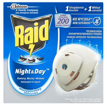 Raid Night&Day elektrofumigator przeciw owadom (1 szt.)