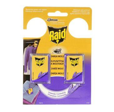 Raid –  Zawieszki przeciw molom w żelu lawendowe 6 g (2 szt.)