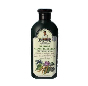 Receptury Babuszki Agafii szampon przeciwłupieżowy ziołowy czarny (350 ml)