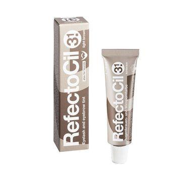 Refectocil Eyelash And Eyebrow Tint henna do brwi i rzęs 3.1 Light Brown 15ml