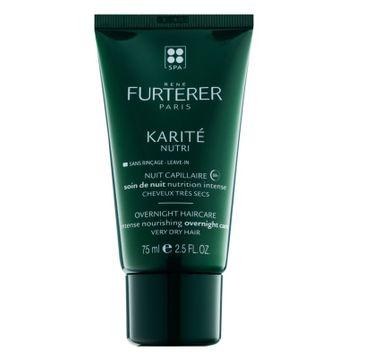 Rene Furterer Karite Nutri Intense Nourishing Overnight Care intensywnie nawilżająca pielęgnacja do włosów na noc 75ml