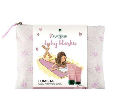 Rene Furterer Lumicia zestaw szampon rozświetlający 50ml + balsam rozświetlający 30ml + kosmetyczka