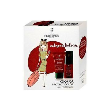 Rene Furterer Zestaw Okara Protect Color szampon do włosów wzmacniający kolor 50ml + odżywka w sprayu wzmacniająca kolor 50ml