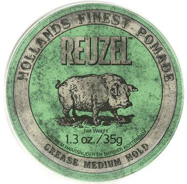 Reuzel Hollands Finest Green Pomade średnio utrwalająca pomada na bazie wosków i olejków (35 g)