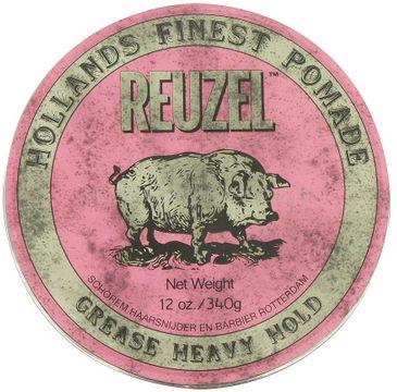 Reuzel Hollands Finest Pomade bardzo mocno utrwalająca pomada na bazie wosków i olejków Pink 340g