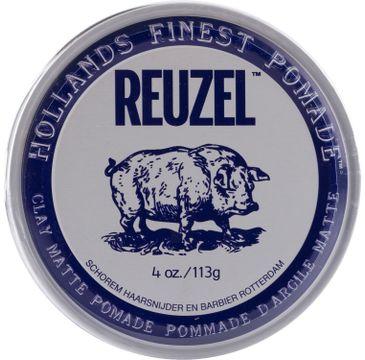 Reuzel Hollands Finest Pomade Clay Matte Pomade matująca glinka do włosów na bazie wody 113g