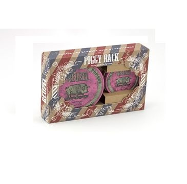 Reuzel Hollands Finest Pomade zestaw bardzo mocno utrwalająca pomada na bazie wosków i olejków Pink Heavy Hold Grease 113g + 35g