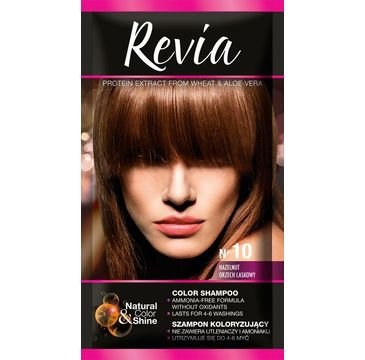Revia – Szampon koloryzujący do włosów nr 10 Orzech Laskowy (1 op.)