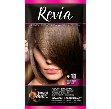 Revia – Szampon koloryzujący do włosów nr 11 Jasny Brąz (1 op.)