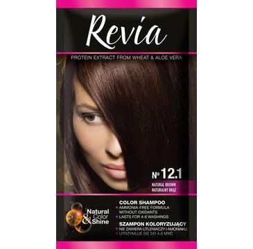 Revia – Szampon koloryzujący do włosów nr 12.1 Naturalny Brąz (1 op.)