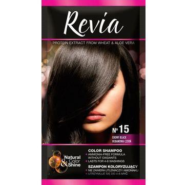 Revia – Szampon koloryzujący do włosów nr 15 Hebanowa Czerń (1op.)