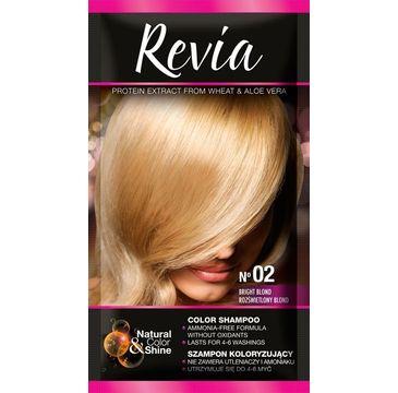 Revia – Szampon koloryzujący do włosów nr 02 Rozświetlony Blond (1 op.)
