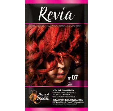 Revia – Szampon koloryzujący do włosów nr 07 Rubin (1 op.)