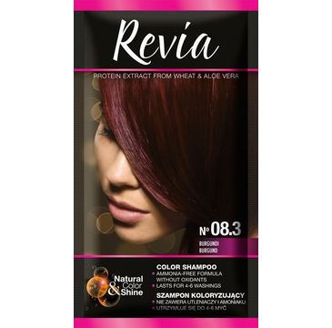 Revia – Szampon koloryzujący do włosów nr 08.3 Burgund (1 op.)