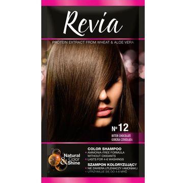 Revia – Szampon koloryzujący do włosów nr 12 Gorzka Czekolada (1 op.)