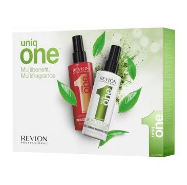 Revlon Professional Uniq One All In One Hair Treatment Classic zestaw prezentowy 10R 150 ml + Hair Treatment Green Tea Scent 150 ml