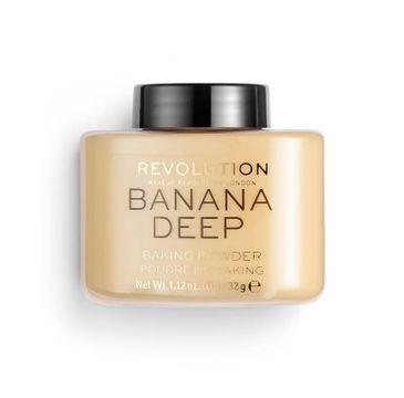 Makeup Revolution Loose Baking Powder – puder sypki Banana Deep (32 g)
