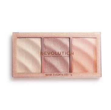 Makeup Revolution Precious Stone – paleta rozświetlaczy Rose Quartz (21 g)