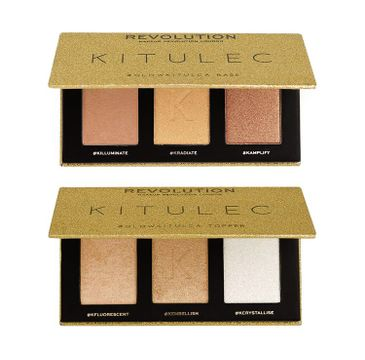 Makeup Revolution – Glow Kitulca 2pk Highlighter Palette zestaw palet rozświetlaczy (2 szt.)