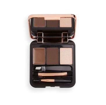 Makeup Revolution – Zestaw do Brwi Brow Sculpt Kit Dark (1 szt.)