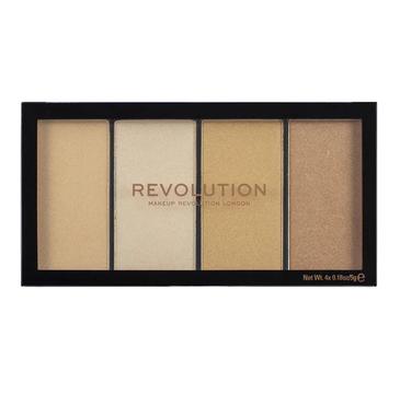 Revolution Revolution  ReLoaded Paleta rozświetlaczy w ciepłych odcieniach (20 g)