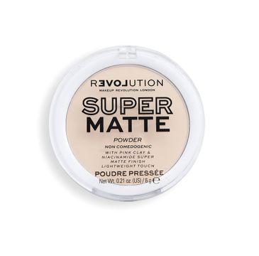 Makeup Revolution Super Matte Pressed Powder Puder matujący Translucent (6 g)