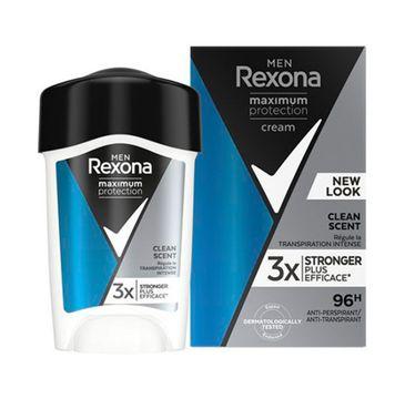 Rexona Men Maximum Protection Clean Scent bloker potu w kremowym sztyfcie dla mężczyzn (45 ml)