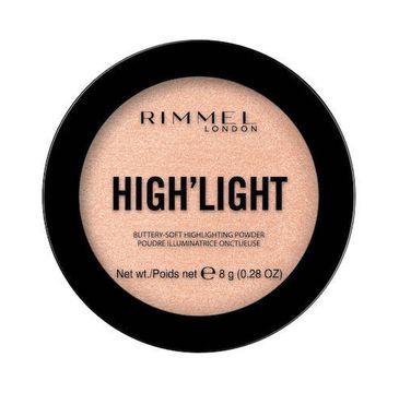 Rimmel High'light Buttery-Soft Highlighting Powder rozÅ›wietlacz do twarzy 002 Candlelit (8 g)