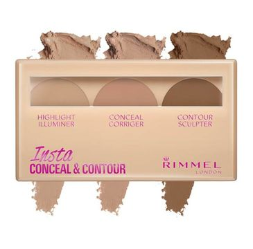 Rimmel Insta Conceal Contour paleta do konturowania twarzy 020 Medium 8.4g
