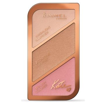 Rimmel Kate Sculpting Palette paletka do konturowania twarzy 001 Golden Sands 18,5g
